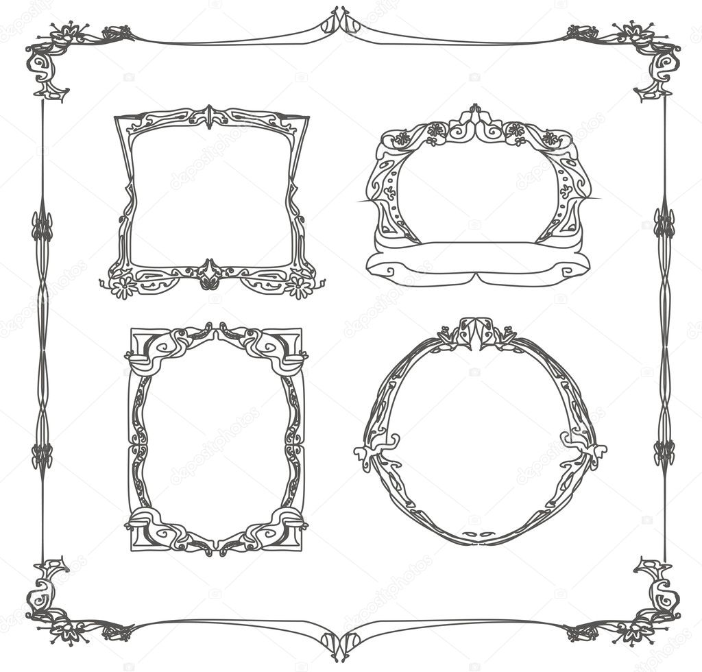 Vintage frames set  — Stock Photo #9749661