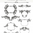 Vector set: calligraphic design elements and frames — Stock Photo #9750141