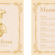 Pizza Menu Template — Stock Photo #9750277