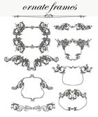 Vector set: calligraphic design elements and frames — Stock Photo