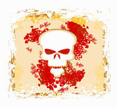 Skull and grunge vector background — Stock Photo