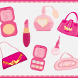 Accessories fashion Vector Set — Stock Vector