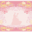 Wedding dancing couple background — Stockvektor