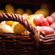 Fresh potatoes in a basket — Stock Photo