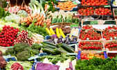 Fresh vegetables on a market place — Stock Photo