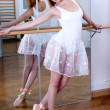 Stock Photo: Beautiful ballerinwith white tutu and red hair