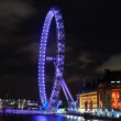 Stock Photo: London eye lit up