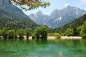 Jasna Lake in Slovenia — Stock Photo