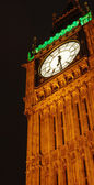 Big Ben lit up at night in London — Stock Photo