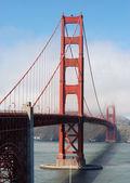 Golden Gate bridge shrouded in mist — Stock Photo