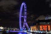 London eye lit up — Stock Photo