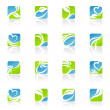 Leaves. Vector logo template set. Elements for design. — Stock Vector