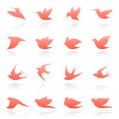 Vögel. elemente für design. vektor-logo-vorlage-set. — Stockvektor