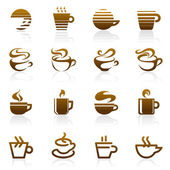 Coffee. Vector logo template set. Elements for design. — Stock Vector