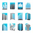 Real estate. Vector logo template set. — Imagen vectorial