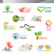 Nature. Vector logo template set. Elements for design. — Stock Vector