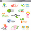 Nature. Vector logo template set. Elements for design. - Stock Vector