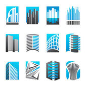 Immobilier. ensemble de modèles de logo vectoriel. — Vecteur