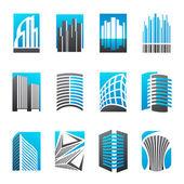 Imobiliário. vetor logotipo modelo conjunto. — Vetorial Stock