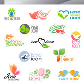 Nature. Vector logo template set. Elements for design. — Stock Vector