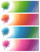 Nature. Abstract colorful banners. Vector illustration. — Stock Vector