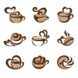 Stock Vector: Coffee. Vector logo template set. Elements for design.