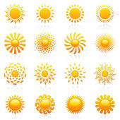 Sun. Vector logo template set. — Stock Vector
