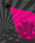 Urban disco night life. Vector illustration. — Stock Vector