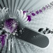 Royalty-Free Stock Imagen vectorial: Purple winged disco ball. Vector illustration.
