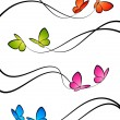 Butterflies. Elements for design. Vector illustration. - Imagen vectorial