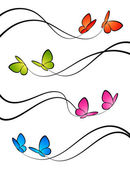 Butterflies. Elements for design. Vector illustration. — Stock Vector