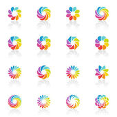 Spectral fantasies. Vector logo template set. — Stock Vector