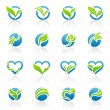 Leaves. Vector logo template set. Elements for design. - Image vectorielle