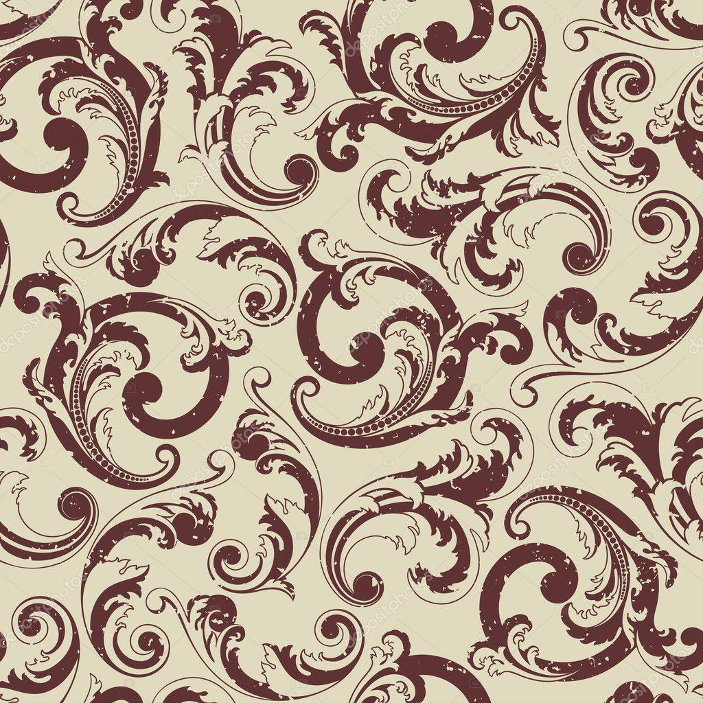 Seamless baroque pattern  Baroque Pattern