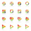 Abstract geometrical elements. Vector logo template set. - Stock Vector