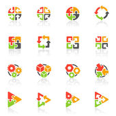 Abstract geometrical elements. Vector logo template set. — Stock Vector