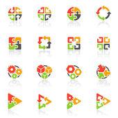 Elementos geométricos abstractos. vetor logotipo modelo conjunto. — Vetorial Stock