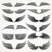Wings. Elements for design. Vector illustration. — Stock Vector