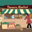 Vector Farmer&#039;s Market - Stock Vector