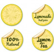 Lemon label - Stock Vector