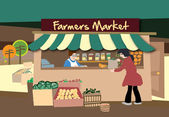 Vector Farmer's Market — Stock Vector