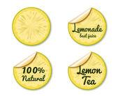 Lemon label — Stock Vector