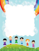 Message for children — Stock Vector
