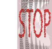 "Font ""STOP"" — Stock Vector"