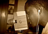 Young African American Filmmaker — Stock Photo