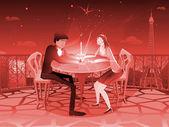 Romantics Starry Valentine — Stock Vector