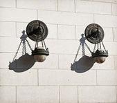 Utsmyckade lampa vägg — Stockfoto