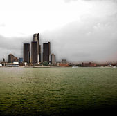 Detroit Skyline — Stock Photo
