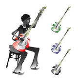 Groovy Bassist — Stock Vector