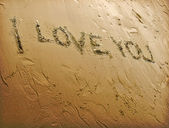 Love Sand Writing — Stock Photo